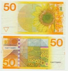 Països Baixos-50-Gulden-1982-Zonnebloem-ZF-vz + az8.jpg