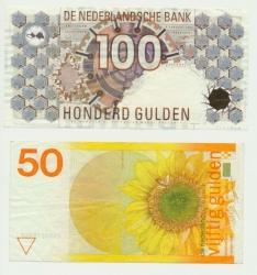 Paesi Bassi-set-50 fiorini-girasole-e-100-fiorini-civetta-vz9.jpg
