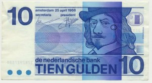 Països Baixos 10 florins 1968 FrancèsNeckMissdruk1.1-1