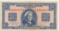 Països Baixos2,5gulden1945Wilhelminaprachtig.jpg