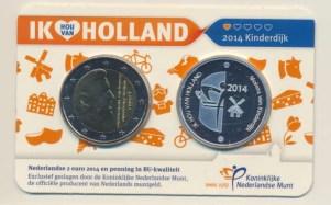 Holanda2eurocoincardkinderdijk2014vz