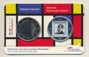 Holanda2eurocoincardmondriaan2020vz