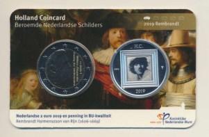 Países Baixos2eurocoincardrembrandthollandcoinfairvz